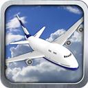 3D plane flight simulator icon.